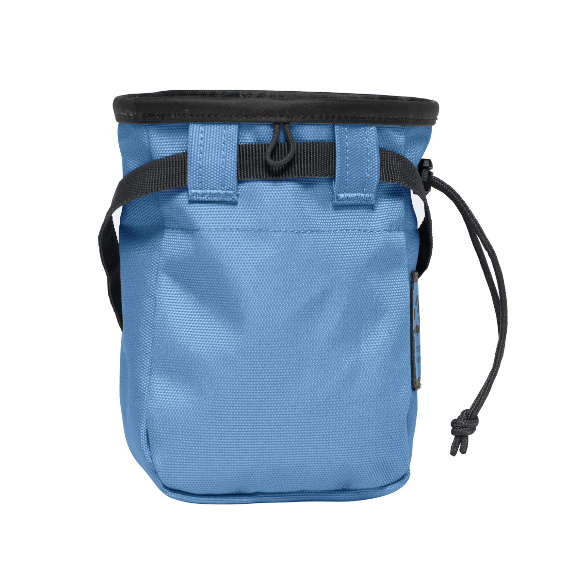 steel blue chalk bag with belt included