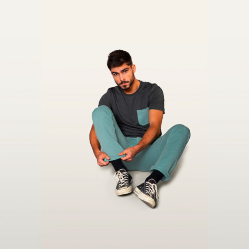 chino vert pour hommes