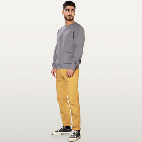 pantalon chino homme couleur moutarde