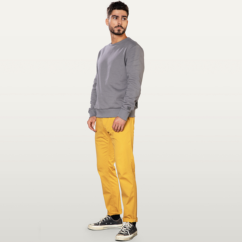 pantalon chino curry pour homme