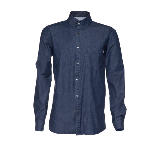 jean shirt in recycled polyester
